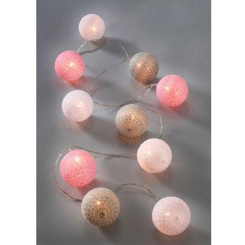 """Łańcuch z lampkami LED """"Ina"""" bonprix jasnoszaro-bladorożowo-biały"""