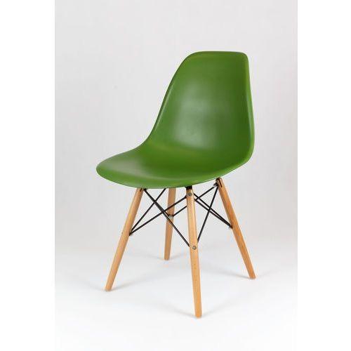 Krzesło SK DESIGN KR012 buk ciemno zielone, kolor Krzesło