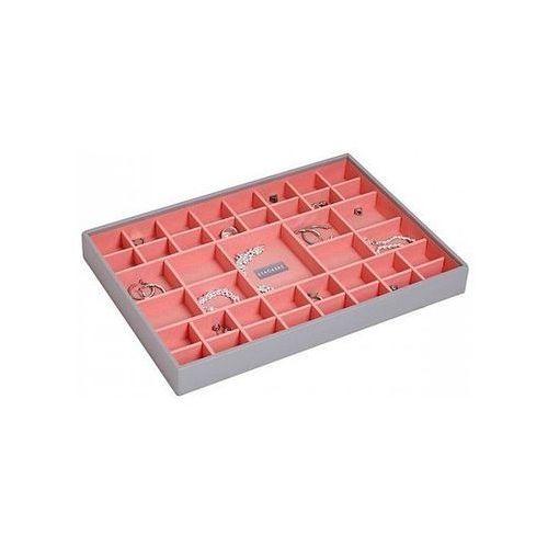 Stackers Pudełko na biżuterię 41 komorowe supersize szaro-koralowe