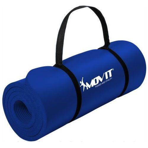 Movit ® Granatowa mata piankowa 190x60x1,5cm do ćwiczeń / gimnastyki / fitness - granatowy / 190x60x1,5 cm (20040340)