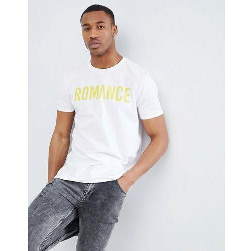 boohooMAN Oversized T-Shirt With Romance Print In White - White, w 3 rozmiarach