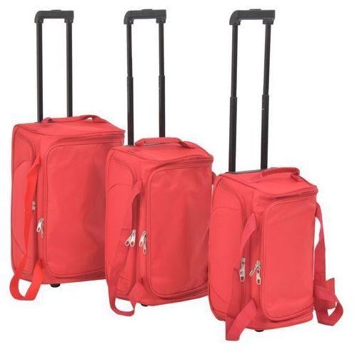 Vidaxl 3-częściowy zestaw walizek podróżnych, czerwony (8718475565598)