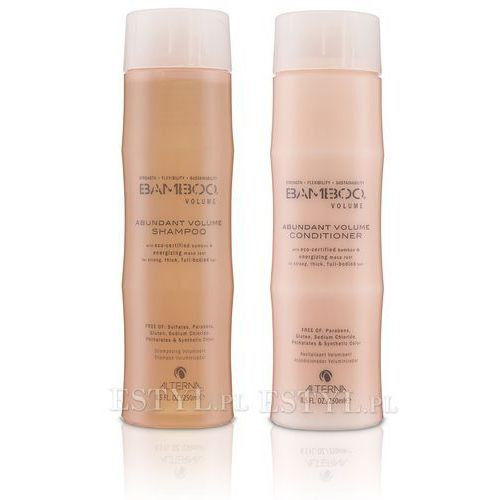 Alterna  bamboo volume zestaw nadający objętość: szampon 250ml + odżywka 250ml, kategoria: mycie włosów