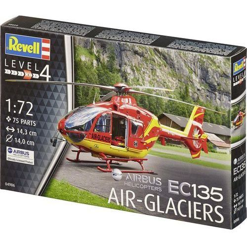 Model helikoptera do sklejania Revell 04986, Airbus EC-135 Air-Glaciers, 1:72, Airbus EC-135 Air-Glaciers