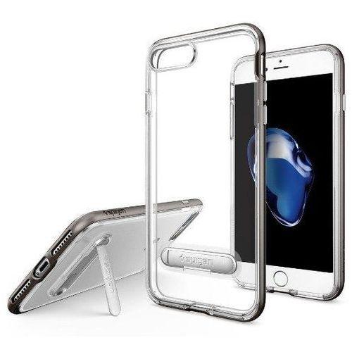 Zestaw | Spigen SGP Crystal Hybrid Gunmetal | Obudowa + Szkło ochronne Perfect Glass dla modelu Apple iPhone 7 Plus