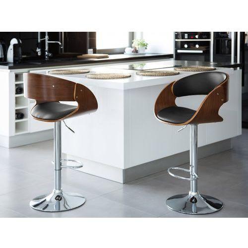 Beliani Hoker - stołek barowy - hoker barowy - krzesło barowe - baku