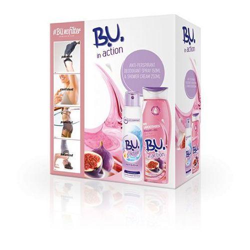 B.U. W działaniu wrażliwej - Dezodorant 150 ml + Jogurt fig - prysznic Krem 250 ml (8592297002277)