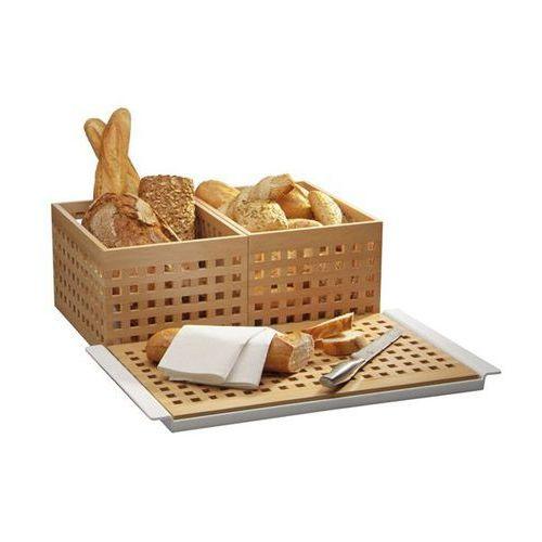 Koszyk prostokątny drewniany na pieczywo | jasnobrązowy | różne wymiary