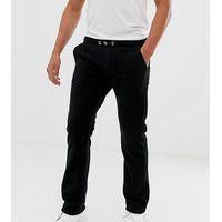 Noak tapered fleece trousers in black - Black