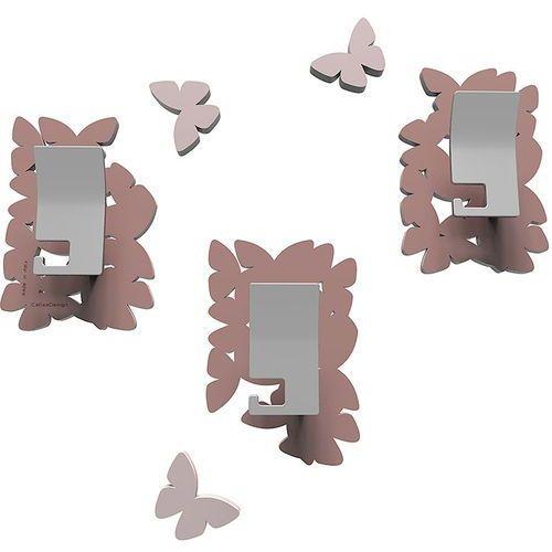 Wieszaki ścienne dekoracyjne butterflies pochmurny róż (50-13-4-33) marki Calleadesign