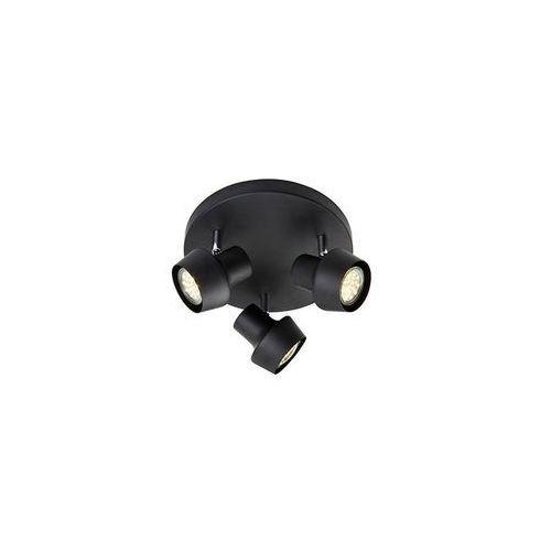 Plafon LAMPA sufitowa URN 106087 Markslojd natynkowa OPRAWA okrągła metalowe reflektorki czarne, kolor czarny,