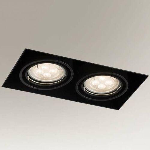 Wpuszczana LAMPA sufitowa OMURA 3302 Shilo podtynkowa OPRAWA prostokątna downlight metalowy wpust czarny, 3302