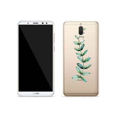 Huawei Mate 10 Lite - etui na telefon Crystal Design - Zielona gałązka