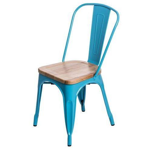 D2.design Krzesło paris wood jesion - niebieski