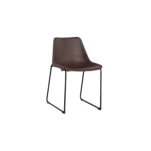 Krzesło brity vintage - brązowy marki D2.design