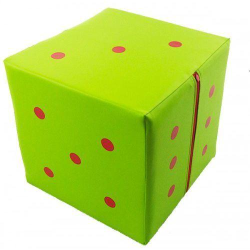 Mega kostka do gry- pufa 20x20x20 cm- ekoskóra -kolor zielony marki A-firma-cja