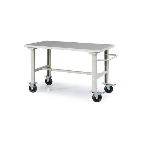 Mobilny stół warsztatowy Match, blat winyl, 1500x800mm