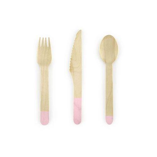 Zestaw sztućców drewnianych różowych - 18 szt. (5902230771321)