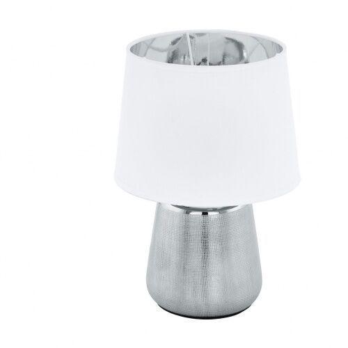 99329 manalba 1 oprawa stołowa ceramika srebrny / tkanina biały, srebrny marki Eglo