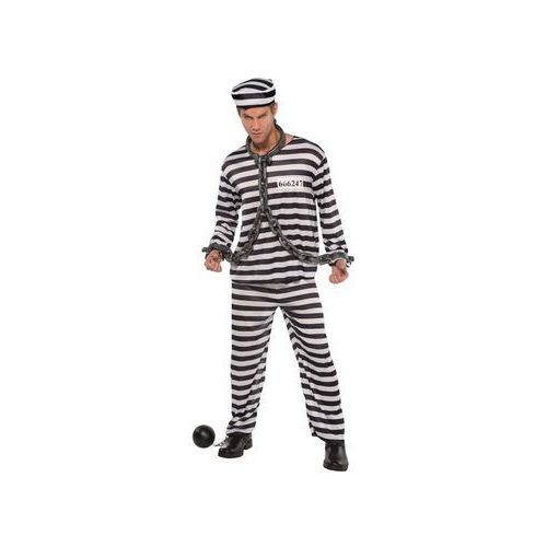 Kostium więzień - m/l (standard), Amscan, 38-40