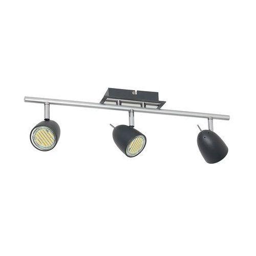 Plafon taylor 6497 spot lampa sufitowa 3x8w gu10 czarny / chrom marki Luminex