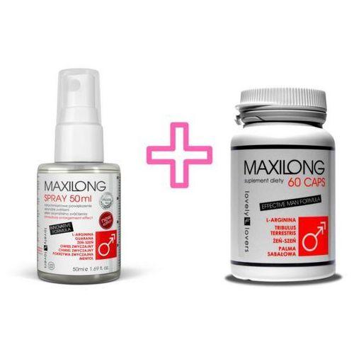 Zestaw na Powiększenie Penisa Maxilong 60 kaps. + Spray Maxilong 50ml