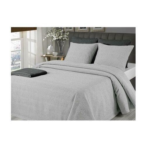 Pikowana narzuta na łóżko CHENONCEAU 220 × 260 cm + 2 poszewki 60 × 60 cm – Kolor szary