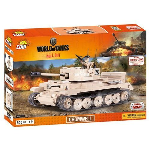 Cobi Cobi, Small Army, World of Tanks, Cromwell, klocki, 505 elementów Cobi, Small Army, World of Tanks, Cromwell, klocki, 505 el. Cobi, Small Army, World of Tanks, Cromwell, klocki, 505 el., zestaw z el. z zakresu 505szt.
