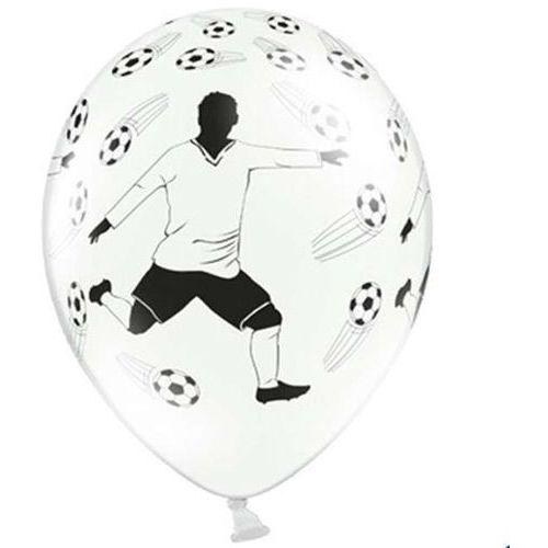 Balon biały piłkarz 30cm 1szt marki Twojestroje.pl