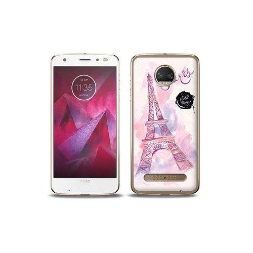 etuo Fantastic Case - Motorola Moto G6 Play - etui na telefon Fantastic Case - różowa wieża eiffla, ETMT716FNTCFC104000