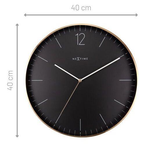 Zegar ścienny 40 cm. essential gold xxl nextime złoto-czarny (3258 zw)