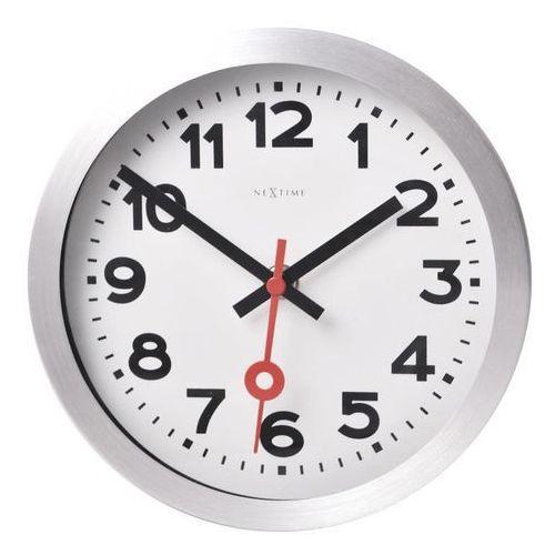 Zegar ścienny Station mały cyfry arabskie