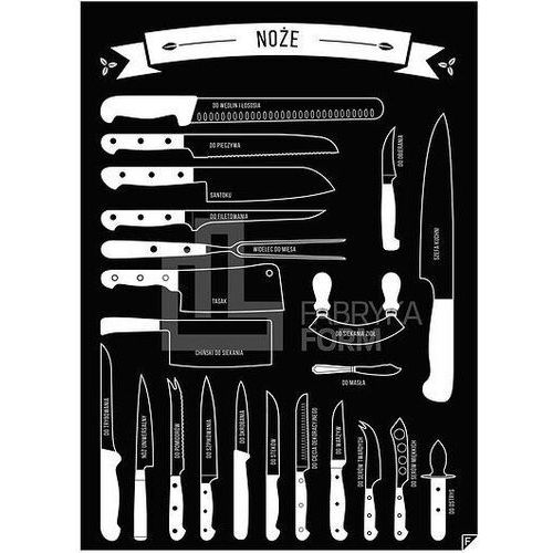 Follygraph Plakat noże czarny 40 x 50 cm