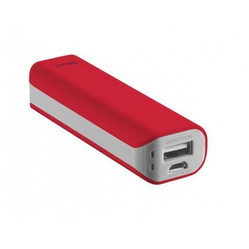 TRUST Urban Revolt Primo 2200 Portable Charger - red >> BOGATA OFERTA - SZYBKA WYSYŁKA - PROMOCJE - DARMOWY TRANSPORT OD 99 ZŁ!