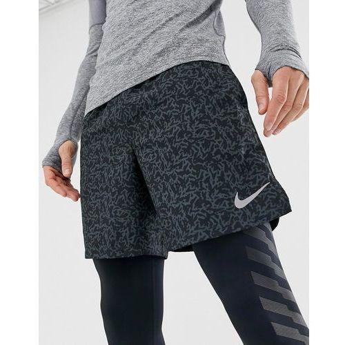 Nike Running Challenger 7 Inch Print Shorts In Black AH0538-010 - Black