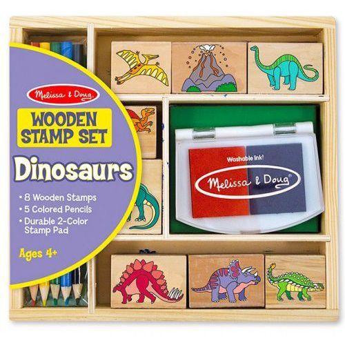 Melissa & doug Drewniane stempelki- zestaw dinozaury melissa&doug