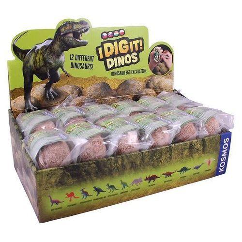 Piatnik figurki dino eggs - ekspozytor 24 sztuki