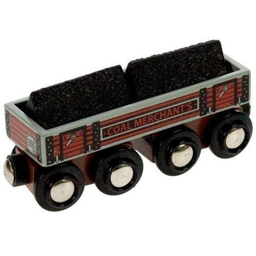 Duży wagon z węglem do zabawy, wyposażenie kolejek drewnianych bigjigs marki Bigjigs toys