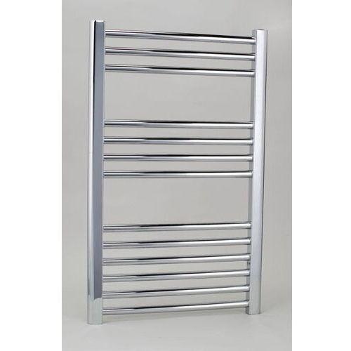 Thomson heating Zestaw: grzejnik łazienkowy york 500x800 + kątowy zawór termostatyczny z zaworem odcinającym