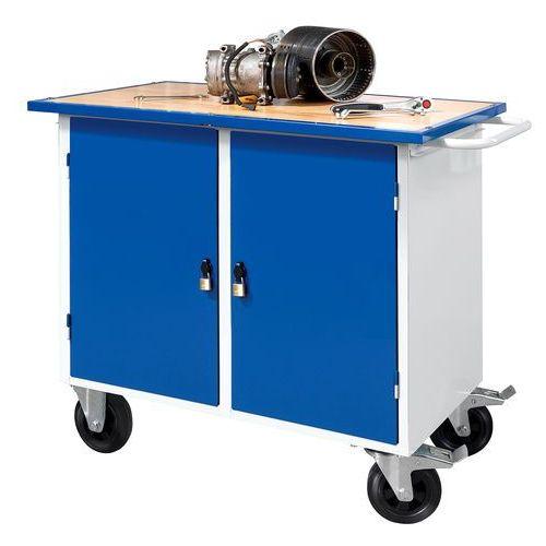 Aj produkty Mobilny stół warsztatowy flex, 2 szafki, 1100x595x900 mm