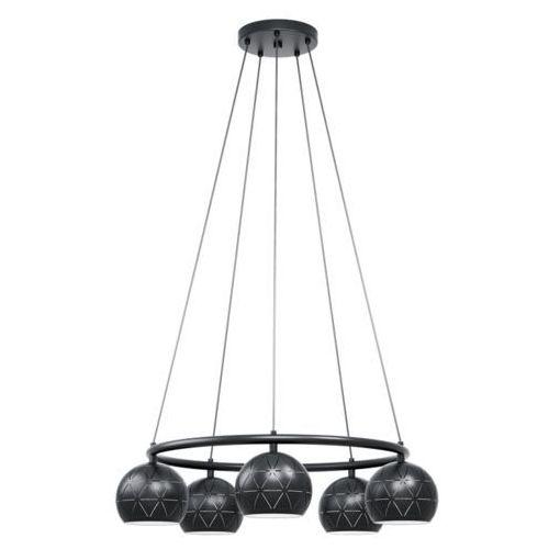 Eglo cantallops 98455 lampa wisząca zwis oprawa 5x40w e14 czarna