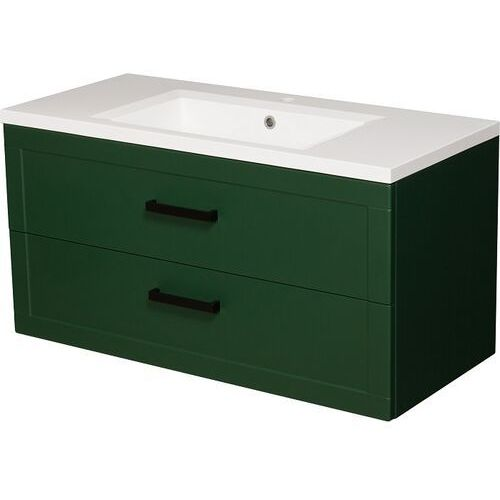 Zielona szafka z umywalką 100/46 seria Meiva Z Gante ✖️AUTORYZOWANY DYSTRYBUTOR✖️