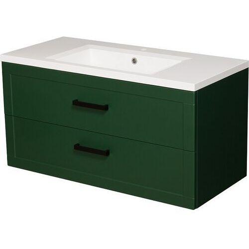 Zielona szafka z umywalką 100/46 seria Meiva Z Gante ✖️AUTORYZOWANY DYSTRYBUTOR✖️, kolor zielony