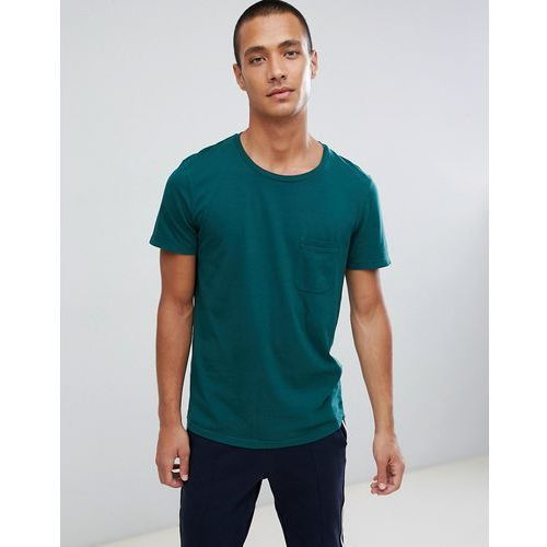 Tom Tailor Crew Neck T-Shirt With Pocket In Green - Green, kolor zielony