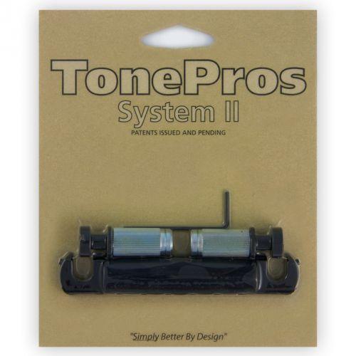 t1zsa-b - tailpiece, części mostka do gitary, czarne marki Tonepros