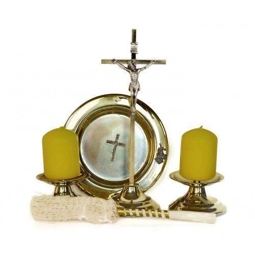 Komplet kolędowy metalowy, kolor złoty
