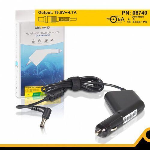 Whitenergy  zasilacz samochodowy 19.5v 4.7a 92w wtyczka 6.5 x 4.4 mm + pin sony