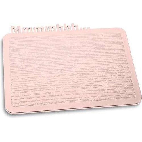 Deska śniadaniowa Happy Boards Mmmmhhh... bladoróżowa (4002942437025)