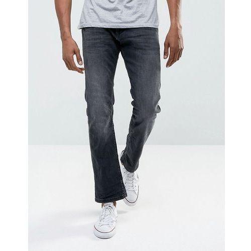 jeans in straight fit washed black organic denim - black, Esprit