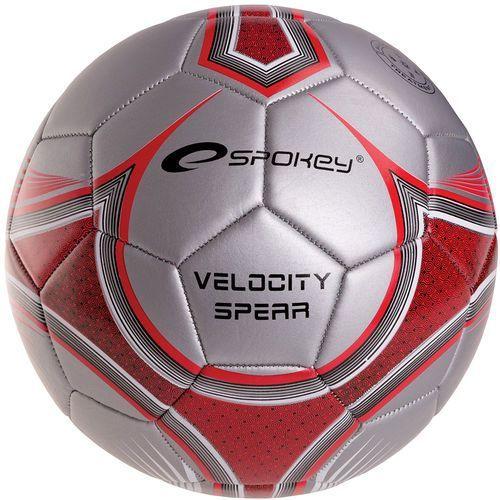 Spokey Piłka nożna  835918 velocity spear srebrno-czerwony (rozmiar 5) (5901180359184)